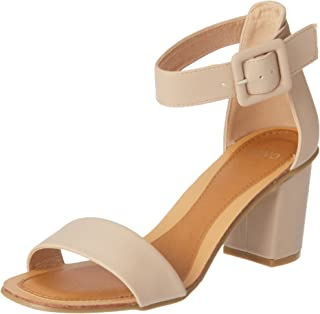 Novo Women's Bloack Heel Strappy Sandals