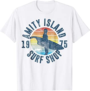 Jaws Amity Island Surf Board Graphic T-Shirt