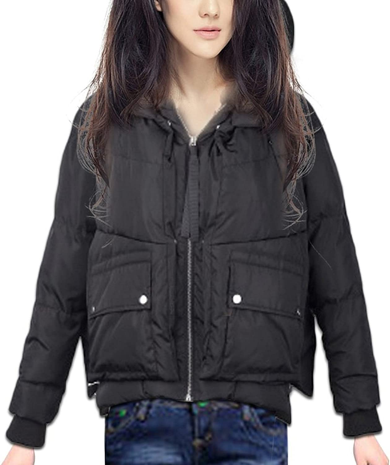 Hot Down Jacket Short Winter Sports Women's Layer encapuchada