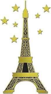 Klar Strass Dekor Mini Paris Eiffelturm Statue Modell Ornament Weiß 18cm de