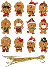 yotijay 12 peças de árvore de natal clássico enfeite pendurado enfeites de gengibre pingente enfeites de festa de natal de...