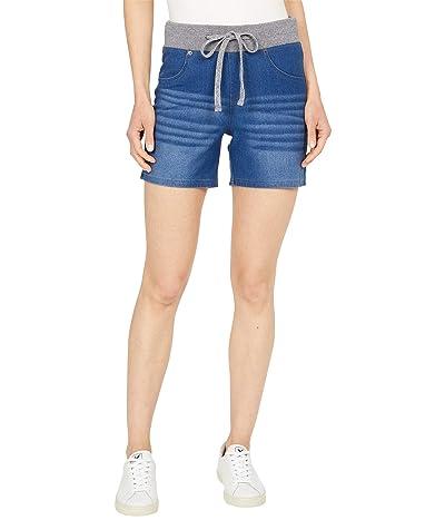 HUE Wearever U R Feel Good Sweatshirt Denim Shorts Women