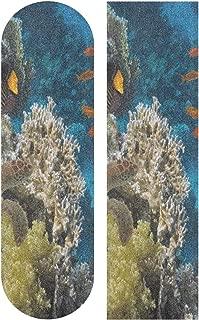 Ocean Sea Shell Starfish Wooden Skateboard Grip Tape Sport Outdoor Skateboard Longboard Board Waterproof Griptape Sheet Sticker Sand Paper Anti Slip 9
