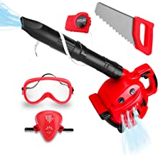 Kids Leaf Blower Toy Tool Set Boys Pretend Play Tools Outdoor Lawn Toy Real Blow Air for..