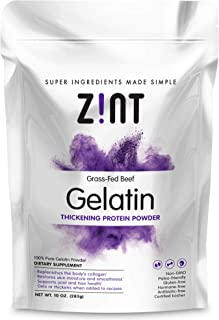 Unflavored Gelatin Powder (10 Ounce): Anti Aging Collagen Supplements, Protein, Paleo Friendly, Grass Fed Beef, Non GMO - Baking & Thickening - Beauty, Skin, Hair & Nails