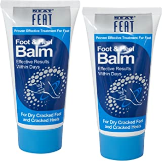 Neat Feat Foot and Heel Balm Twin Pack, 150 Gram, 5.2 Fl Oz, Moisturizing Foot Cream, Dry & Cracked Skin on Heels and Feet.