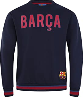 FC Barcelona Official Football Gift Mens Crest Sweatshirt Top
