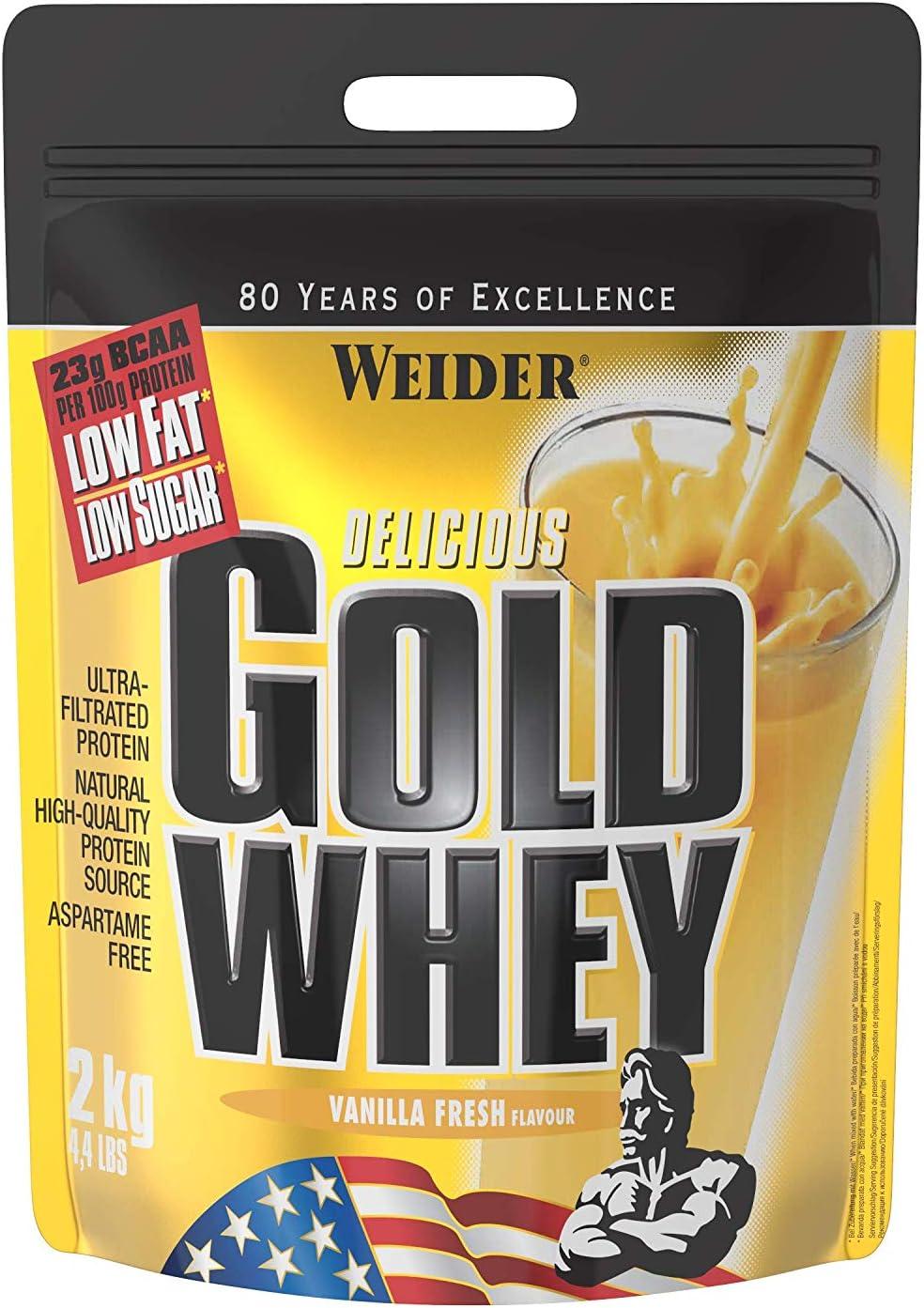 Weider Polvo de proteína de suero de Leche, 500 g Dorado
