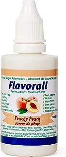 Greeniche Flavorall Peachy Peach Liquid Flavoured Stevia Drops   50 ML   Natural Sweetener & Sugar Substitute   20 Exciting Stevia Flavors