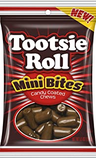 Tootsie Roll Mini Bites Candy Coated Pieces, 5.5 oz, Pack of 3