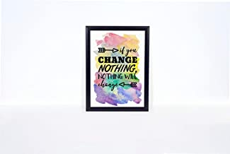 King65irginia Wall Art Motivational Quote Print If You Change Nothing Nothing Will Change Print Your Own Gift Wall Home Decor