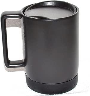 Starbucks Black Ceramic Desktop Mug Silicone Nonslip Bottom with press-in Lid , 14 Fl Oz