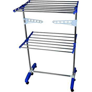 Mega Stainless Steel 2 Tier Make in India Portable Cloth Drying Stand