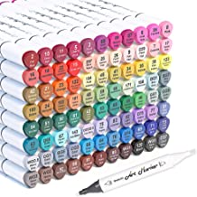 Shuttle Art 88 Colors Dual Tip Art Markers,Permanent Marker Pens Highlighters with Case Perfect for Illustration Adult Col...