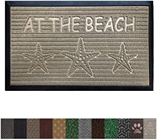 Gorilla Grip Original Durable Rubber Door Mat, Heavy Duty Doormat for Indoor Outdoor, 35 x 23, Waterproof, Easy Clean, Low-Profile Mats for Entry, Garage, Patio, High Traffic Areas, Beach Sand