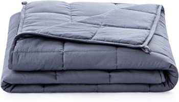 Linenspa 12 Pound Weighted Blanket Filled with Premium Glass Beads