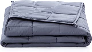 Linenspa15 PoundWeighted Blanket–All NaturalRelief and Sleep Aid- Filled with Premium Glass Beads - Calming and Soot...