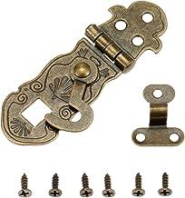 Nologo SSB-JIAJUPJ, 1 stuk 71 * 24 mm houten kist Toggle-sluiting Antiek Bronzen Box Buckles Latch Haak Patroon Gesneden B...