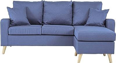 Amazon.com: LifeStyle Solutions Harrington Sofa in Grey ...
