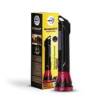 wipro 3W Radiant Solar LED Torch, Black & Red, Standard