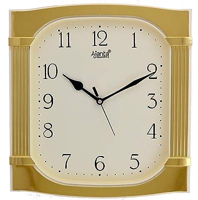 Ajanta Plastic Fancy Wall Clock (31.5 cm x 29.2 cm x 4.5 cm, Ivory)
