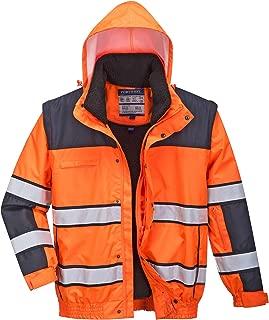 Portwest Uomini Hi-Vis classica giacca antipioggia contrasto Multi Colore E Dimensioni H443
