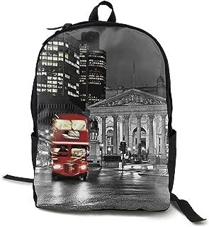 canvas london print backpack