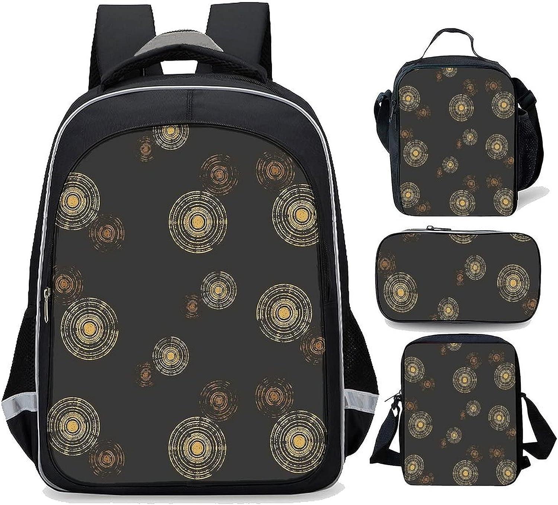Super popular specialty store Mcm Gold Bronze Starburst Tulsa Mall Pattern Black Print four-pi Waterproof