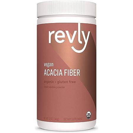 Amazon Brand - Revly Organic Acacia Fiber Powder, Supports Digestive Health*, 12 Ounce, 52 Servings, Vegan