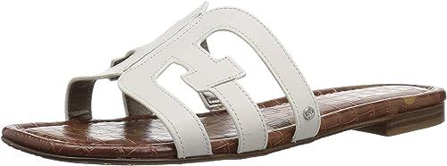 Sam Edelman - Bay Femme, Blanc (Bright blanc Leather), 39 EU