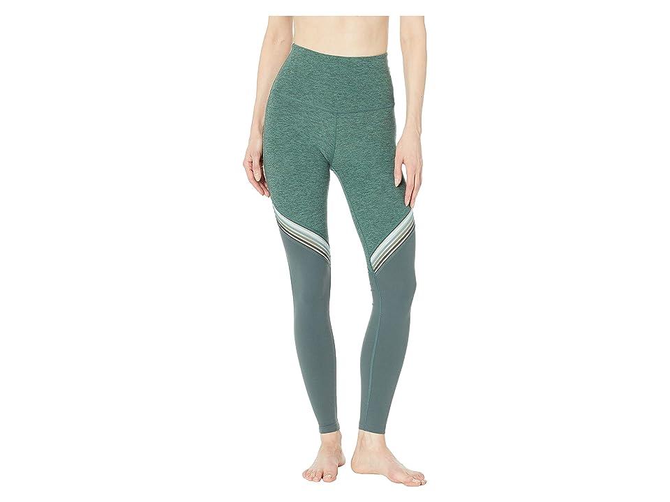 Beyond Yoga All The Filament High-Waisted Long Leggings (Aloha Green/Dark Tropic Block) Women