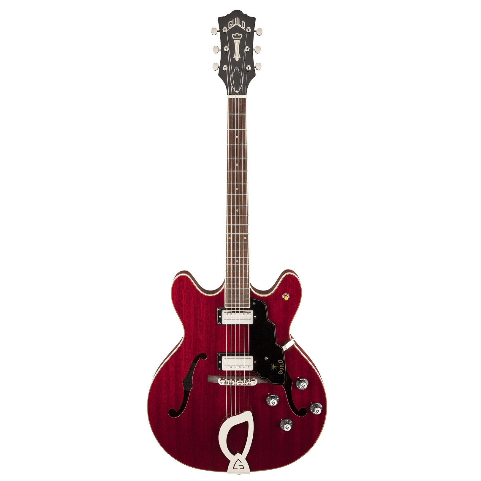 Cheap Guild Starfire IV Semi-Hollow Body Electric Guitar with Case (Cherry Red) Black Friday & Cyber Monday 2019