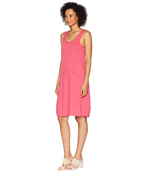 Mod-o-doc Featherweight Slub Jersey Raw Edge Seamed Tank Dress Desert Rose Free Shipping Clearance Many Kinds Of Cheap Price Pick A Best Clearance Best Store To Get 0Cl6HmYlH