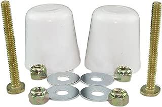 Stinky John's TALL Toilet Bolt Caps and BOLTS: Don't cut those bolts! (1/4 inch bolt thread, 2)