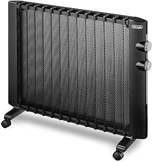 DeLonghi HMP 2000 radiador - Calefactor (220-230V, 50 Hz, 80 cm, 7,6 cm, 63 cm) Negro