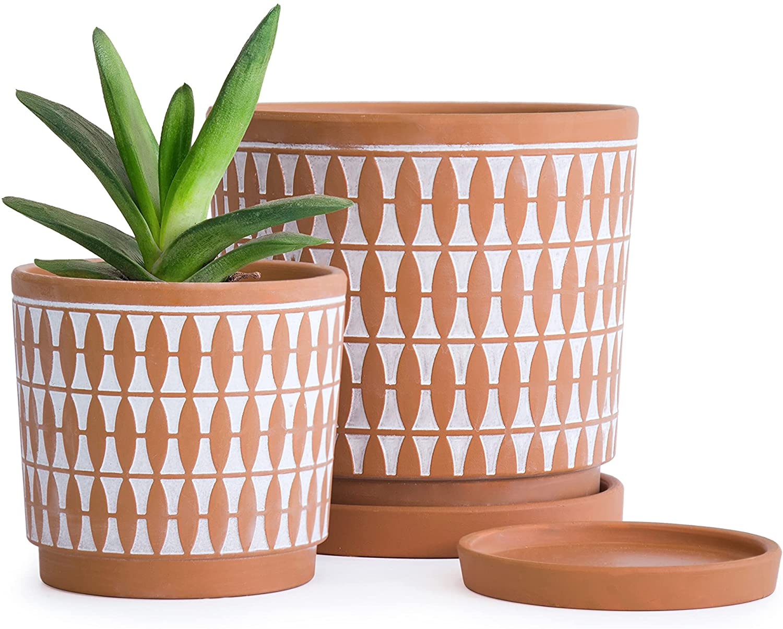 Set of 2 Terracotta Pots 4 Japan Maker New 6 for Plan Milwaukee Mall Planter Inch