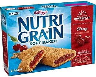 Kellogg's, Nutri-Grain Breakfast Bars, Cherry, 8 Count, 10.4 Ounce Box (Pack of 4)