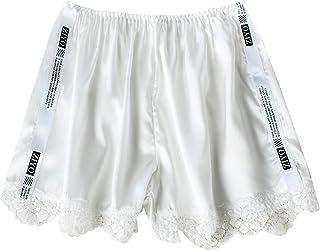 FEOYA スパッツ レディース 冷感 3分丈 夏用 オーバーパンツ 通勤 スクール 制服 スカート用 パンチラ防止 ペチパンツ レース フリーサイズ