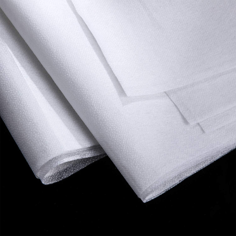 Blanc, 1 x 2 m 3 Feuilles 1 x 2 m Entoilage Fusible Entoilage L/éger en Polyester Non Tiss/é