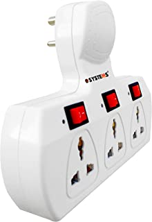 eSYSTEMS Multi Plug Point 3+3 Universal Socket Adaptor with Led Indicator & Individual Switch, (6 Amp Cordless)
