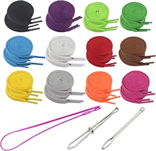 Luckkyme 27Pcs Replacement Drawstrings for Sweatpants Shorts Hoodies with Flexible Threader - RoomDiary Colorful Universal Drawstrings for Jackets Swim Trunks Shoe Laces Tote Bags 47