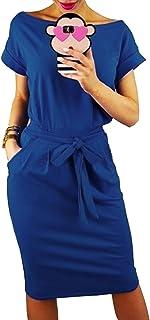 comprar comparacion Longwu Vestido de Manga Corta Elegante de Las Mujeres para Trabajar el Vestido Ocasional del lápiz con la Correa