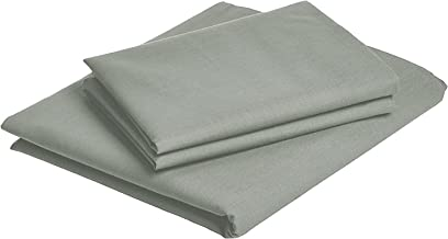 iBed Home Solid Bedsheets 2 Pieces Bedding Set, Single Size, 160x240cm, Grey, FLTSNGL7