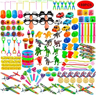 Kissdream 130PCS Carnival Prizes for Kids Birthday Party Favors Prizes Box Toy Assortment for Classroom