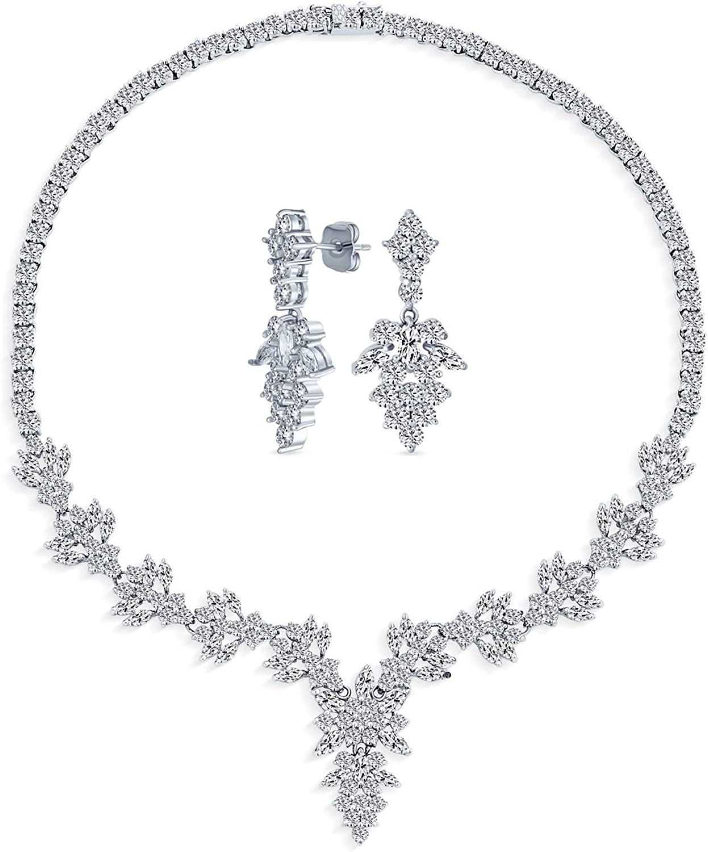 Vintage Style Fashion Max 77% OFF Bridal Multi Starburst Marquise Leaf AAA Over item handling C