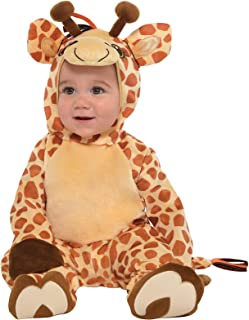 Amscan 845912 Baby Giraffe Costume, Size, Brown, 6-12 Months