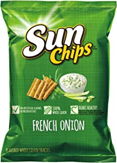 Sunchips Multigrain Snacks, French Onion, 1.5-Ounce Large Single Serve Bags (Pack of 64)