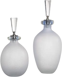 Vhomes Leah Bubble Glass Containers S/2