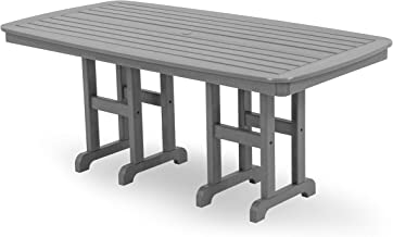 product image for POLYWOOD NCT3772GY Nautical Dining Table, 37 by 72-Inch, Slate Grey