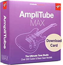 IK Multimedia AmpliTube MAX for Windows and Mac - The Ultimate Guitar and Bass Tone Studio (Download Card)